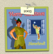 YEAR:  				&nbsp;2003&nbsp;&nbsp;&nbsp;&nbsp;COSTUME:&nbsp;Peter Pan (Susie) & Tinkerbelle (Steven)<P>IMAGE USED:&nbsp;Original Illustration