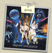 YEAR:&nbsp;2014&nbsp;&nbsp;&nbsp;&nbsp;COSTUME:&nbsp;Chewbacca (Steven), Han Solo (Susie), Princess Leia (Sadie) & Luke Skywalker (Henry)  				<P>IMAGE USED:&nbsp;based on an original Star Wars poster